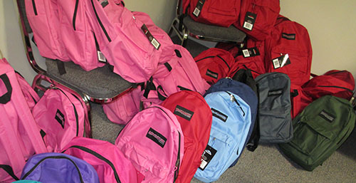 backpacks rainbow of colors