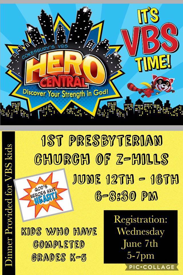 VBS - Hero Central @ 1st Presbyterian Church - Fellowship Hall | Zephyrhills | Florida | United States